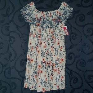 3/$35 - *NEW* Floral On/Off Shoulder Dress